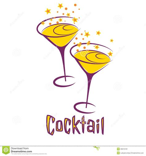 vintage cocktail party clipart retro cocktail party card stock image image 36972181