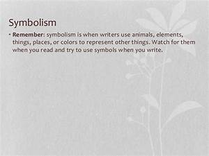 how to use symbolism in writing
