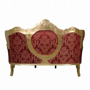 Canapé Baroque Pas Cher : canap baroque rouge et or meuble baroque en bois dor ~ Teatrodelosmanantiales.com Idées de Décoration