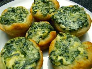 Spinach Dip Cup Appetizers