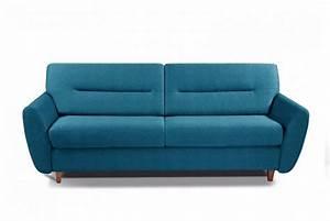 Canapé Bleu Convertible : canape bleu convertible maison design ~ Teatrodelosmanantiales.com Idées de Décoration