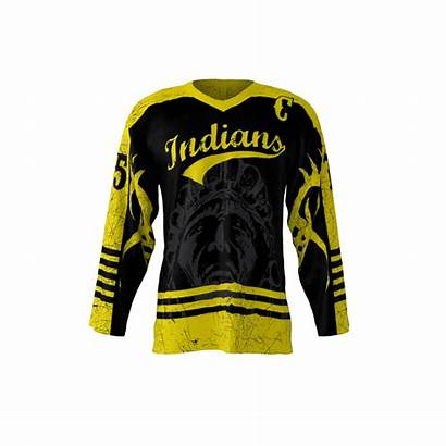 Jersey Indians Sublimation Hockey Sublimated Jerseys Custom