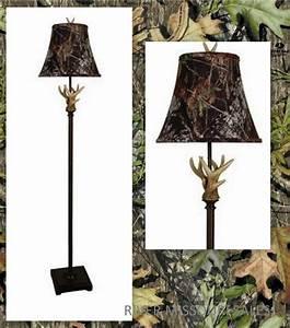 Mossy oak antler club floor lamp brown 61quot metal base w for Realtree floor lamp