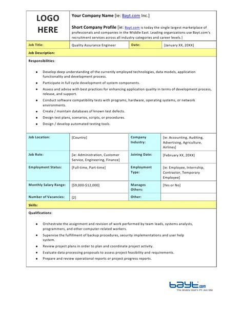 Quality Assurance Engineer Job Description Template By. Printable Blood Pressure Charts Template. Sample Cover Letters For Customer Service Template. Microsoft Benefits For Employees Template. Nature Powerpoint Template. Update My Resume. Water Heater Leaking From Top Template. Renewal Of Tenancy Agreement Template Kbeqs. Starting A Babysitting Service Template