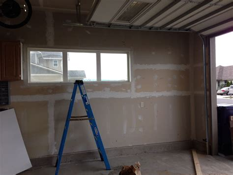 garage wall paint how to build shelves and texture unfinished walls in your