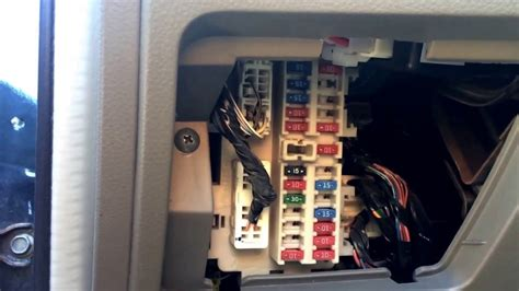 nissan altima   fuse box location youtube