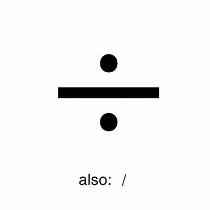 Division Symbols Symbol Divide Another Type Number