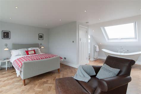 open plan bedroom 50 degrees architects dormer loft conversion project