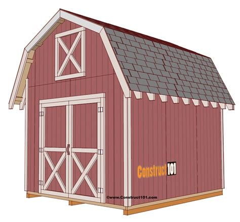 shed plans free shed plans 10x12 gambrel shed construct101