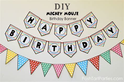 mickey  minnie mouse party  printable happy