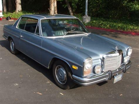 L'état actuel du véhicule peut signifier. 1972 Mercedes-Benz 250C - Information and photos - MOMENTcar