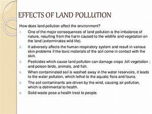 Land pollution (Environmental Science) Grade 7