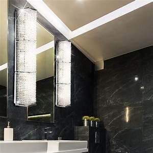 Badezimmer Spiegel Beleuchtung : wand leuchte kristall lampe chrom badezimmer spiegel beleuchtung im set inklusive led ~ Watch28wear.com Haus und Dekorationen