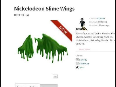 roblox slime wings link  description code youtube