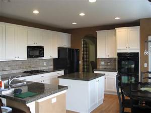 dose painting kitchen cabnets make the room brighter With kitchen colors with white cabinets with print stickers at home