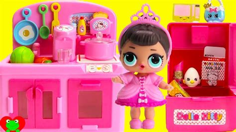 lol dolls kitchen video  shopkins season  world