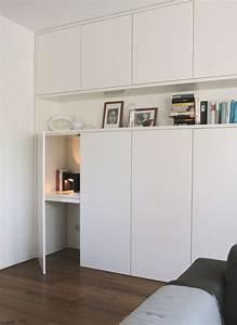 inspiration diy un bureau escamotable pour petits With meubles pour petit espace