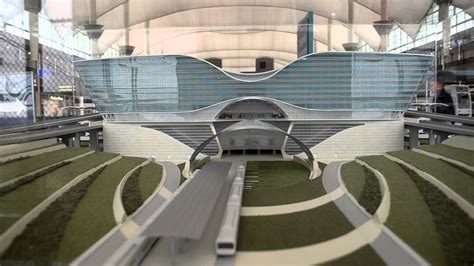 light rail to airport denver new light rail at denver international airport terminal