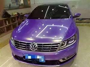 2017 Car Styling Wrap Diamond Glitter Purple Car Vinyl ...
