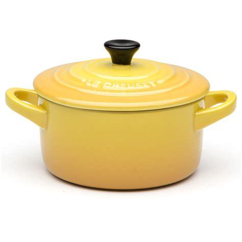 le creuset dijon yellow mini casserole dish