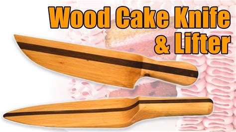 wood knife wood cake lifter set homemade