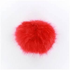 Fausse Fourrure Rouge : pompon rond fausse fourrure rouge ma petite mercerie ~ Teatrodelosmanantiales.com Idées de Décoration