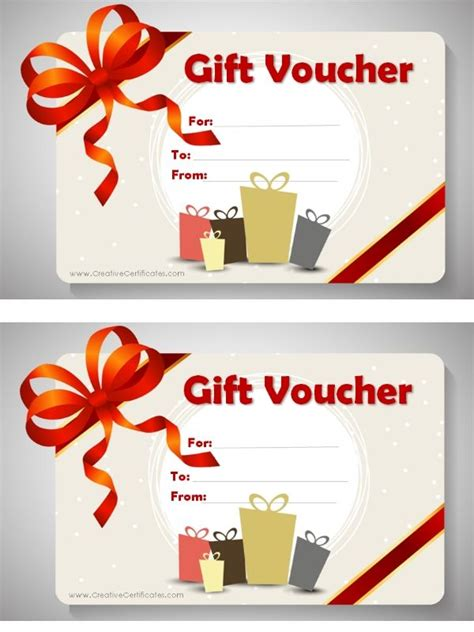 printable gift voucher template gift certificate