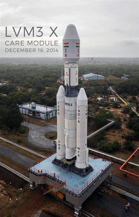 the gslv mk 3 rolls out to the launch pad earlier in december credit isro space