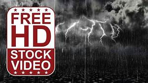 Free Stock Videos  U2013 Winter Scene Walking Through The Rain Storm And Thunders