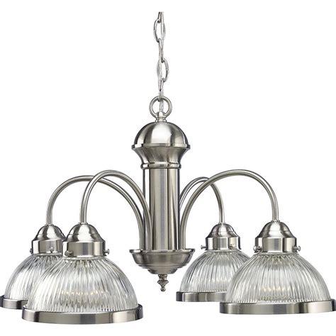 progress lighting chandelier progress lighting 4 light brushed nickel chandelier with
