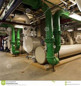Chiller Plant And Piping Stock Photo  Image Of Pump  Valve