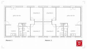 plan maison jumelee plain pied With superb plan de maison etage 10 plans de maisons contemporaines catalogue et plans
