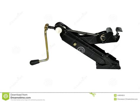 Car Jack Used For Changing A Spare Wheel Stock Photo