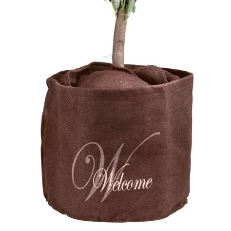 Grote Gele Bloempot by Free Jute Welcome With Okergele Bloempot