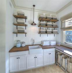 Top Photos Ideas For Country Shelves by The Wood Counter For Laundry Room And This Sink