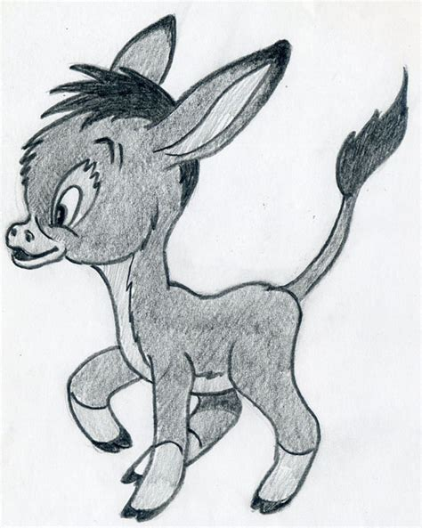 lets draw cartoon donkey cute  lovely  easy steps