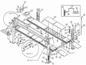 Auto Lift Parts  Overall Parts Breakdown  For Ben Pearson