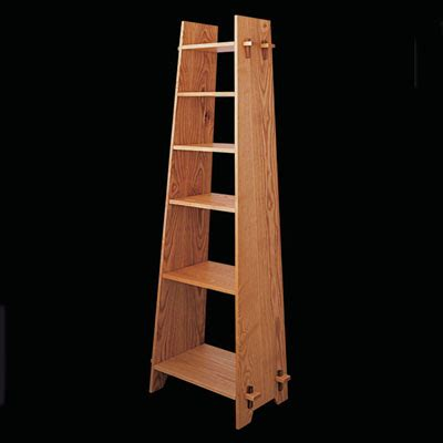 build  trapezodial bookcase finewoodworking