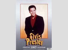 Elvis Presley official 1987 calendar! Danilo have produced