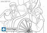 Philip Coloring Chariot Ethiopian Template sketch template