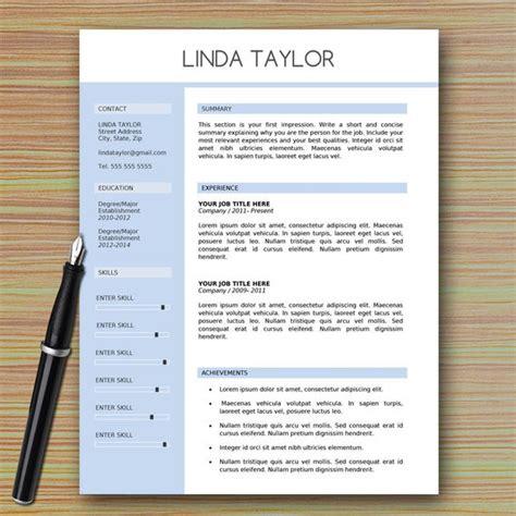 professional modern resume template  microsoft word