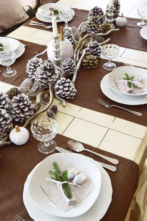 Tischdeko Ohne Tischdecke by Winterlich Festliche Tischdeko Mit Naturmaterialien