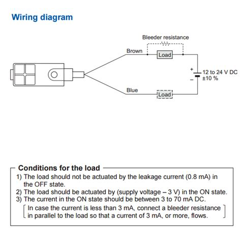 connecting   wire inductive proximity sensor