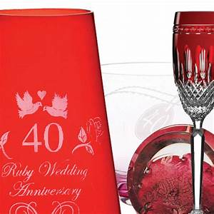 40th ruby wedding anniversary gifts gift ftempo With 40th wedding anniversary traditional gift
