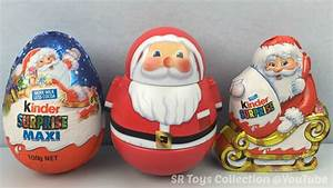 Christmas Kinder Chocolate Surprise Eggs Santa Claus and ...