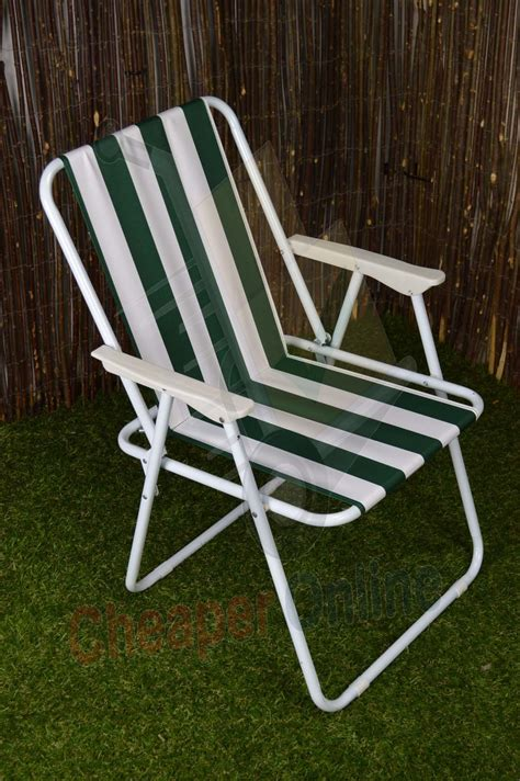 green white striped lightweight folding cing picnic