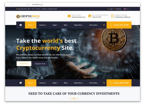 Our best web design will clearly represent the concept and boost your business to the next level. 20 Bitcoin Cryptocurrency website template themes - Themefisher