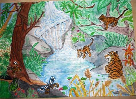 drawn jungle rainforest pencil   color drawn jungle