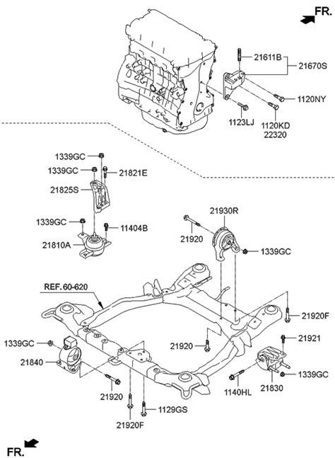 2010 Hyundai Santum Fe Engine Diagram by 21810 2p000 Genuine Hyundai Bracket Assembly Engine Mounting