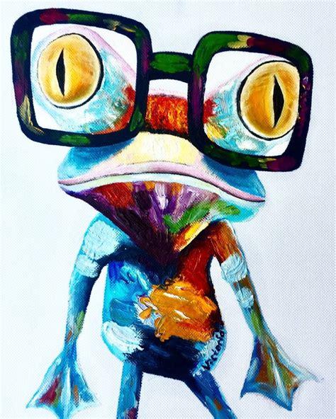 crazy frog painting  viktoria dmitrieva saatchi art